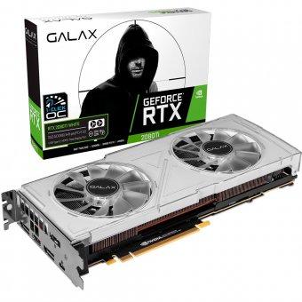 Placa de Vídeo Galax RTX2080 TI 11GB Dual WH 1Cclick OC G6 352Bits 28IULBUCT4KK