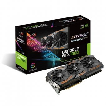 Placa de Vídeo Geforce 6gb Strix Gtx1060-06g-gaming 90yv09q0-m0na00 - Asus