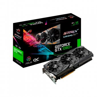 PLACA DE VIDEO GEFORCE GTX 1080 TI ROG STRIX 11GB DDR5X 352 BITS - 90YV0AM0M0NA00 - ASUS