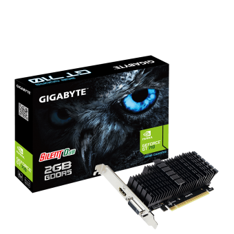 Placa de Vídeo Gigabyte NVIDIA GeForce GT 710 2GB DDR5 - GV-N710D5SL-2GL