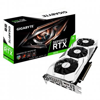 Placa de Vídeo Gigabyte RTX 2070 8GB D6 Gaming OC WH GV-N2070GAMINGOC WHITE-8GC