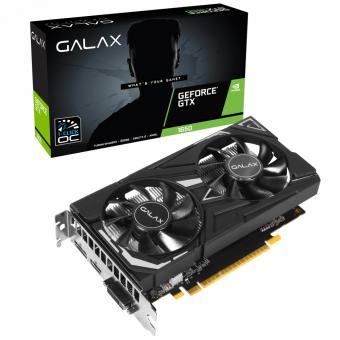 Placa de Vídeo GTX 1650 4GB Galax 1 Click OC G5 128Bits 65SQH8DS08EX