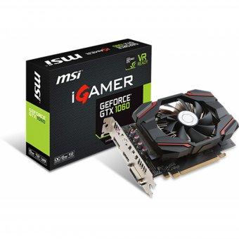 Placa De Vídeo Msi Geforce Gtx 1060 Igamer 6gb Oc Gddr5 Pci-Exp 912-V809-2463