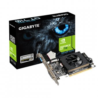 Placa de Vídeo Nv Gt 710 1gb Ddr3 Pci-E Gigabyte GV-N710D3-1GL REV2.0