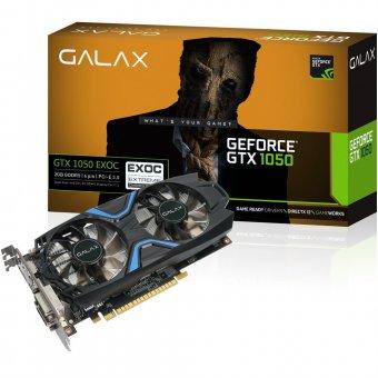 Placa de Vídeo NVIDIA Galax GEFORCE GTX 1050 Exoc 2GB, 128Bits DDR5 50NPH8DVN6EC