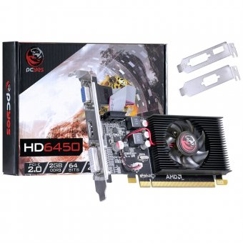 Placa de Vídeo PCYes AMD 6450 2GB DDR3 PJ64506402D3LP