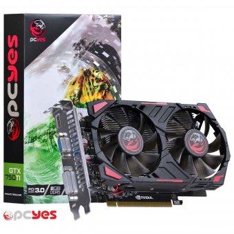 Placa de Vídeo Pcyes Geforce Gtx 750 Ti 2gb Ppv750ti12802d5 Ddr5 Pci-exp
