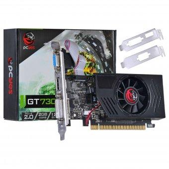 Placa de Video Pcyes Gt 730 2gb Ddr3 128 Bits Com Kit Low Profile Incluso - Pj73012802d3lp