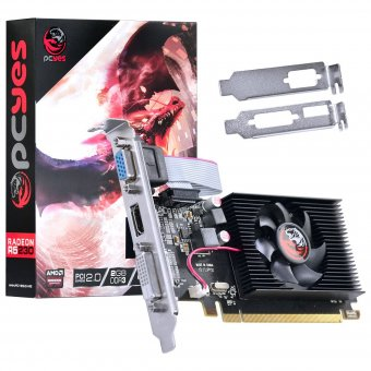 Placa De Vídeo Pcyes Radeon R5 230 2gb Ddr3 Low Prof 64bits PA230R56402D3LP