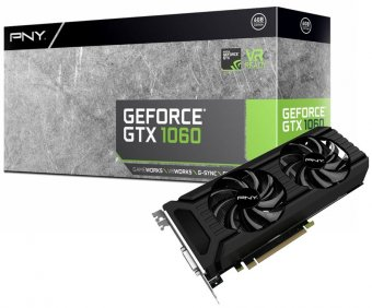 Placa de Vídeo Pny Geforce Gtx 1060 6gb Gddr5 Vcggtx10606pb Pci-Exp
