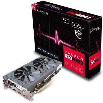 Placa de Vídeo VGA AMD Sapphire RADEON RX 580 PULSE 8GB GDDR5 PCI-E Dual HDMI/DVI-D/Dual DP OC- 11265-05-20G