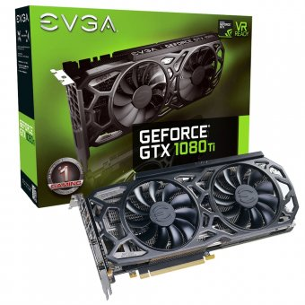 Placa de Vídeo VGA NVIDIA EVGA GEFORCE GTX 1080 Ti SC Black Edition ICX Gaming 11GB LED Branco e 9 Sensores Térmicos 11G-P4-6393-KR