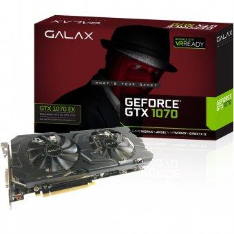 Placa de Vídeo VGA NVIDIA Galax GEFORCE GTX 1070 EX 8GB GDDR5 256Bit PCI-E 70NSH6DHL4XE