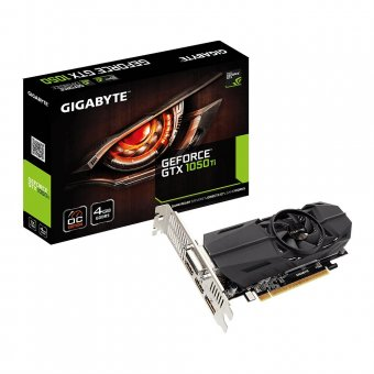 Placa de Vídeo VGA NVIDIA GIGABYTE GEFORCE GTX 1050 TI 4GB OC Low Profile GDDR5 GV-N105TOC-4GL