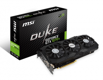 Placa de Vídeo Vga Nvidia Msi Geforce Gtx 1070 Ti Duke 8gb Ddr5 256bits 912-v330-255