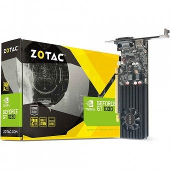 Placa de Vídeo VGA NVIDIA Zotac GEFORCE GT 1030 Mainstream 2GB 64 Bit GDDR5 ZT-P10300A-10L