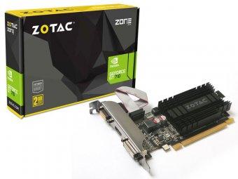 Placa de Vídeo VGA NVIDIA Zotac GEFORCE GT 710 1GB DDR3 64 Bits ZT-71301-20L