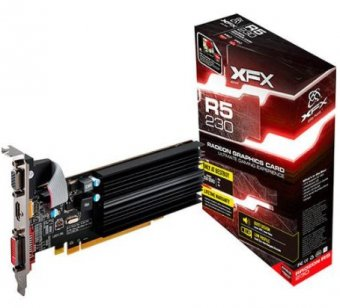 PLACA DE VIDEO XFX R5 230 2GB DDR3 RADEON 625M HDMI DVI VGA R5230ACNH2
