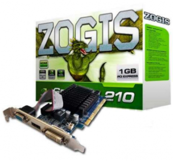 PLACA DE VÍDEO ZOGIS GEFORCE GT210 1GB DDR2 64B HDMI