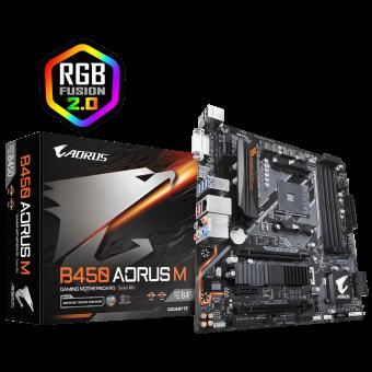 Placa Mãe (Amd) Gigabyte B450 Aorus M DDR4 AM4
