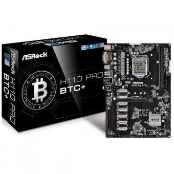Placa-mãe AsRock BTC+ H110 DDR4 Intel LGA 1151 90-MXB5S0-A0UAYZ