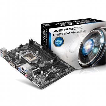 Placa-Mãe ASRock H81M-HG4 Intel LGA 1150 mATX D-Sub/HDMI/USB 3.0