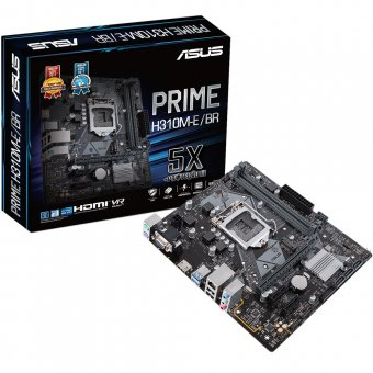 Placa-mãe Asus P/ Intel Lga 1151 Matx Prime H310m-e/br Ddr4