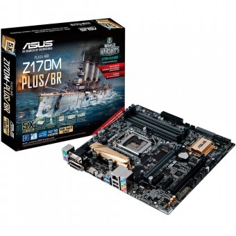 Placa Mãe Asus Z170M-PLUS/BR p/ Intel 6/7a Geração DDR4, LGA 1151 HDMI/DVI/DVI-D/RGB