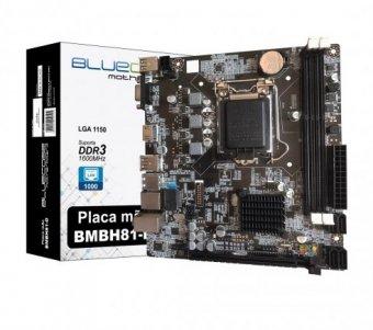 Placa Mãe Bluecase BMBH81-D DDR3 Lga 1150P Rede Gigabit