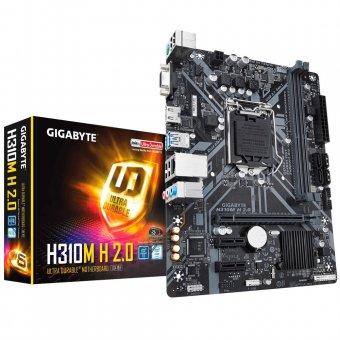 Placa-Mãe Gigabyte H310M H 2.0 DDR4 mATX Intel LGA 1151