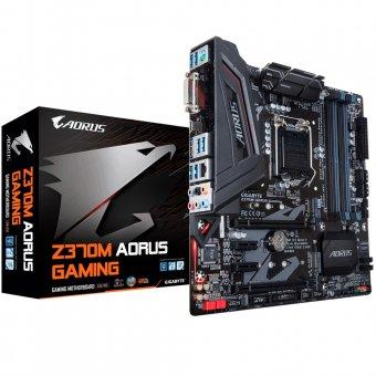 Placa-Mãe GIGABYTE p/ Intel LGA 1151 mATX Z370M AORUS GAMING DDR4