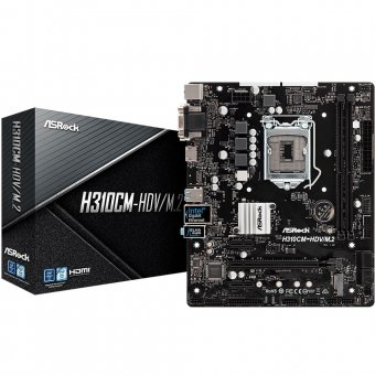 Placa-Mãe ASRock H310CM-HDV/M.2, Intel LGA 1151, mATX, DDR4