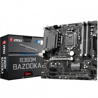 Placa-Mãe MSI p/ Intel LGA 1151 mATX B360M BAZOOKA DDR4 8ª Geração