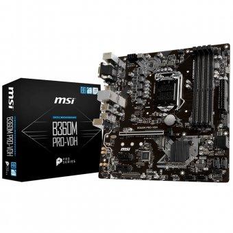 Placa-Mãe MSI p/ Intel LGA 1151 mATX B360M PRO-VDH DDR4 8ª Geração