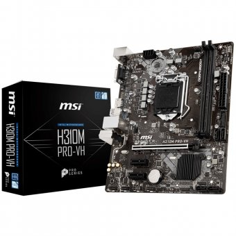 Placa-Mãe MSI p/ Intel LGA 1151 mATX H310M PRO-VH DDR4 8ª Geração