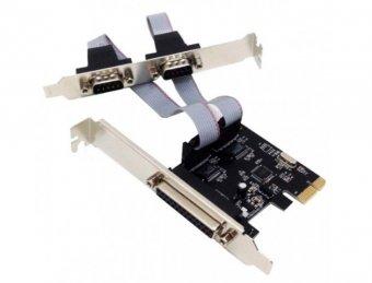 Imagem - Placa Serial e Paralela PCIExpress 2 Serial 1 Paralela DP-03 DEX