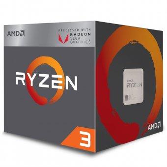 Processador AMD Ryzen 3 2200G c/ Wraith Stealth Cooler, Quad Core, Cache 6MB, 3.5GHz (3.7GHz Max Turbo), VEGA, AM4 - YD2200C5FBBOX