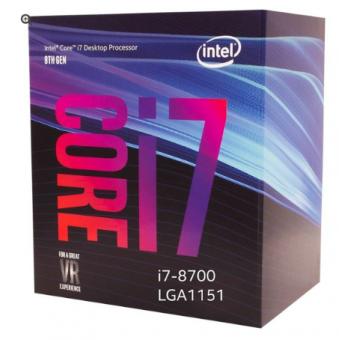 Processador Intel Core i7-8700 Coffee Lake 8a Geração, Cache 12MB, 3.2GHz lga 1151 bx80684i78700