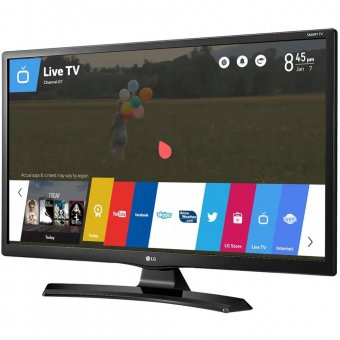Smart TV Monitor LG 24' HD Conversor Digital Wi-Fi integrado USB 2 HDMI WebOS 3.5 Screen Share 24MT49S-PS
