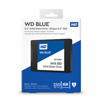 SSD M.2 2280 WD Blue 250GB 7MM Sata 3 3D Nand - WDS250G2B0B