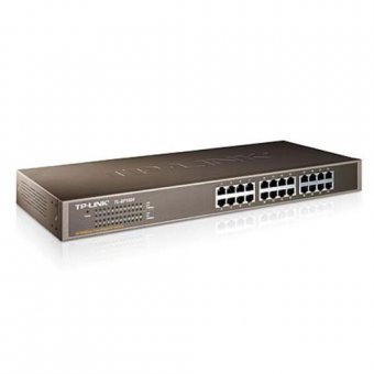 Switch 24 Portas Tp-link Tl-sf1024 10/100 Mbits Aço/rack