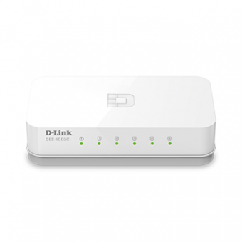 Switch 5 Portas Fast-Ethernet DES-1005C