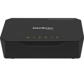 SWITCH 5 Portas INTELBRAS SG500 10/100/1000 Gigabit