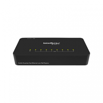 Switch 8P 10/100 Intelbras SF800Q+ QOS POE Passivo