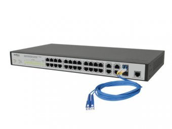 Switch Intelbras Gerenciável Sf2842mr 24p Fast+4 Port Giga 2 Mini-Gbic