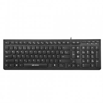 Teclado C3-tech Multimidia Usb Preto - Kb-m60bk