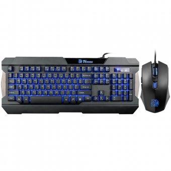 Teclado e Mouse Gamer Thermaltake Tt Sports Commander Combo Multi Back Light Abnt2 Kb-ccm-plblpb-01
