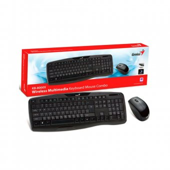Teclado e Mouse Multimídia Genius KB-8000X Wireless Preto