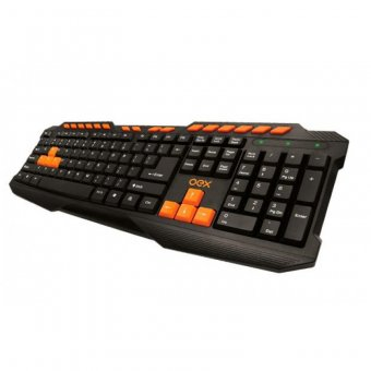 Teclado Gamer Oex Action Multimídia 16 Teclas de Atalho Usb Tc-200 Preto