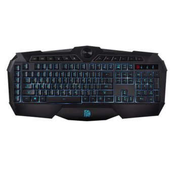 Teclado Thermaltake Gamer Tt Sports Challenger Prime Lighting Abnt2 Usb Kb-chm-mbblpb-01